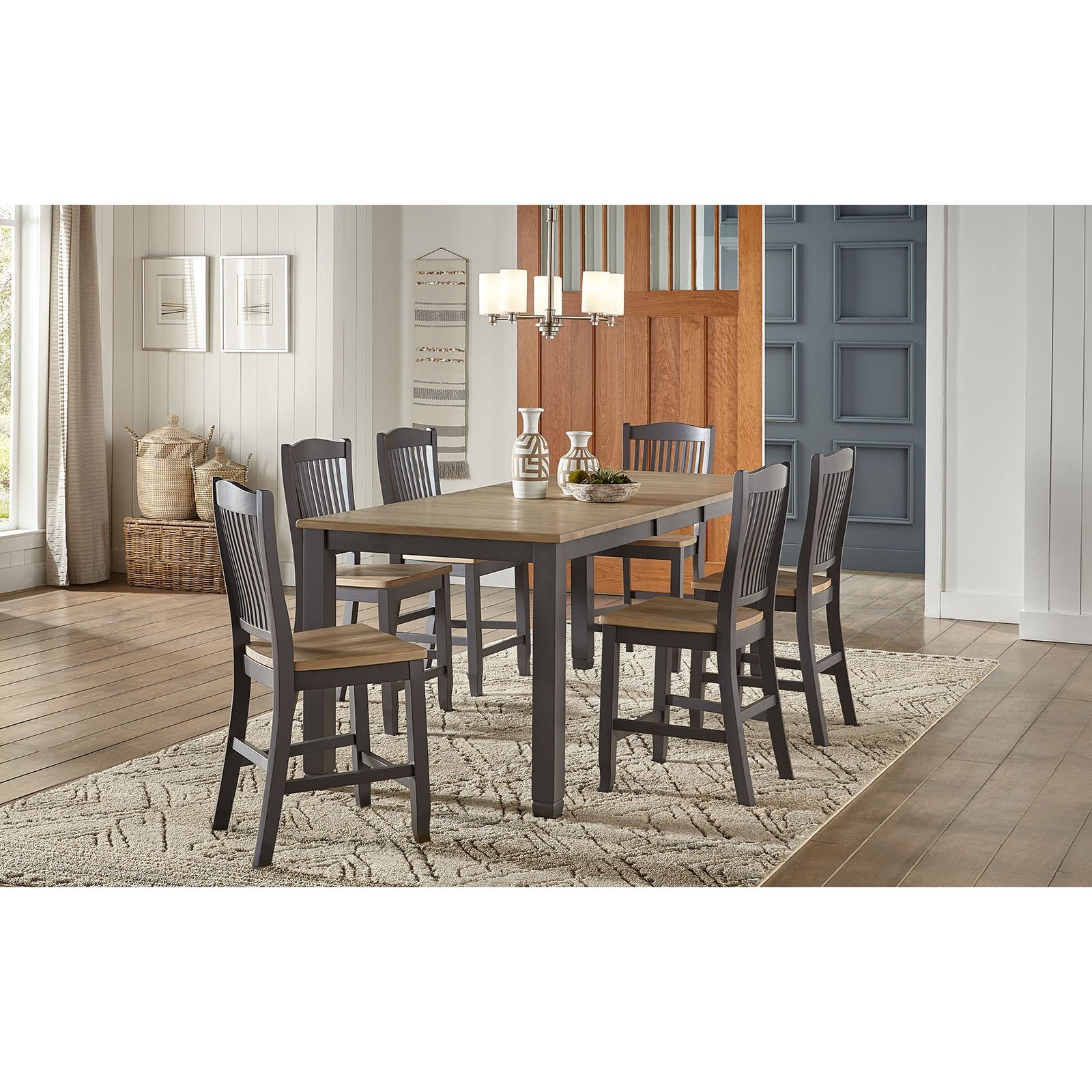 Port Townsend 7-Piece Gathering Height Table and Chair Set by AAmerica at Dinette Depot