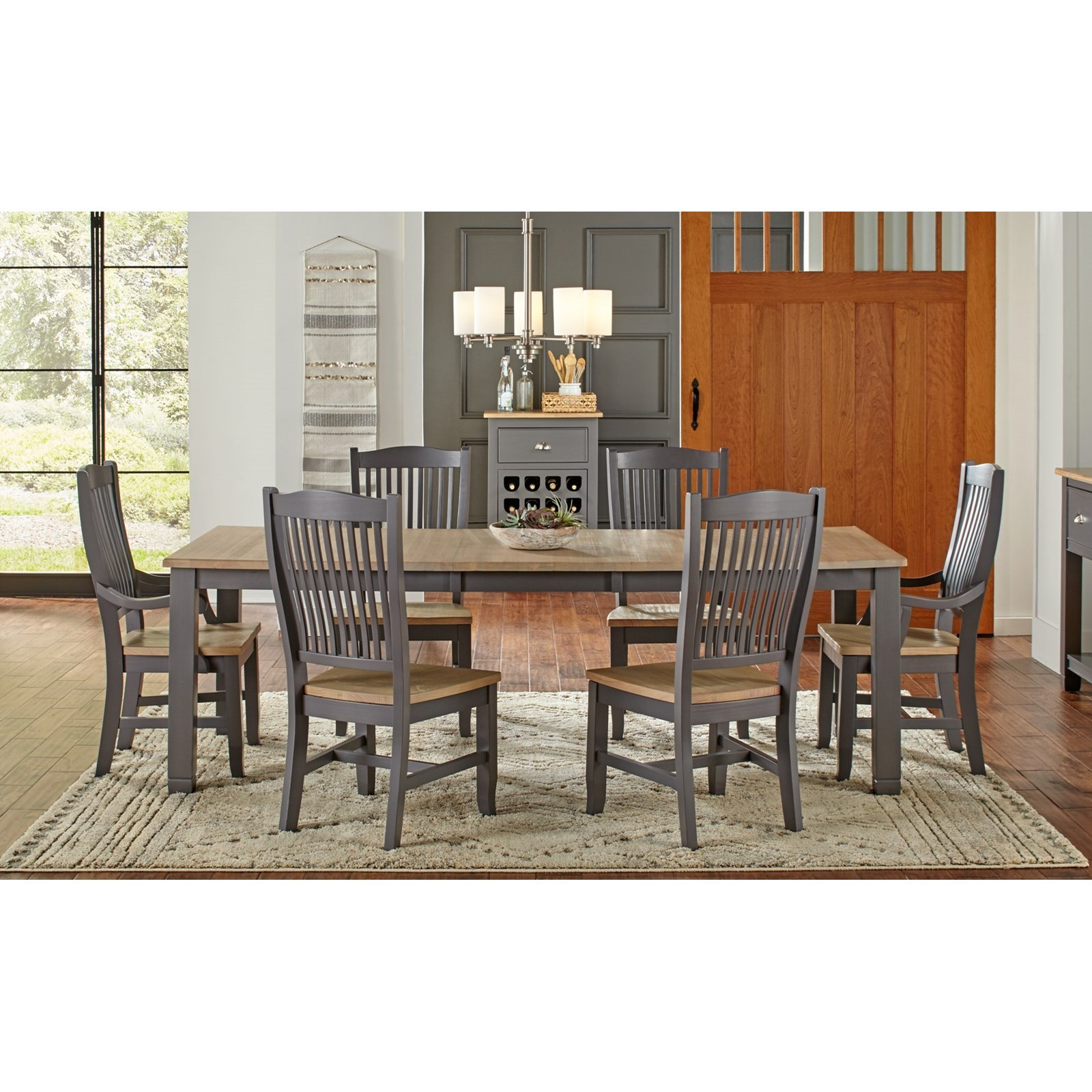 Port Townsend 7 Pc Table Set by AAmerica at Dinette Depot