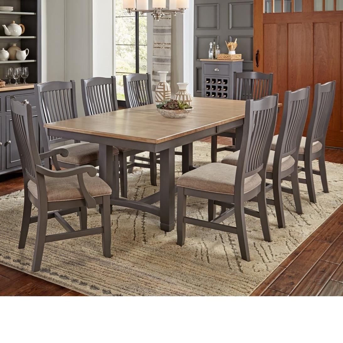 Port Townsend 9 Pc Table Set by A-A at Walker's Furniture