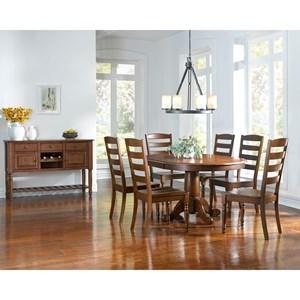 AAmerica Roanoke Casual Dining Room Group