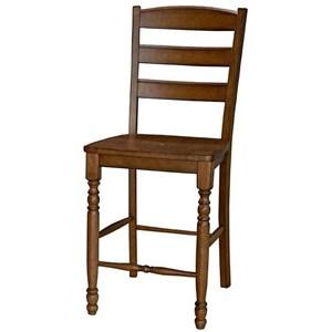 AAmerica Roanoke Ladderback Barstool