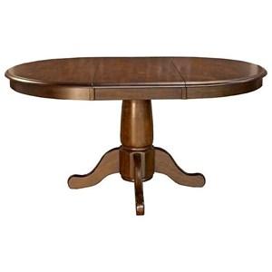 AAmerica Roanoke Oval Extension Pedestal Table