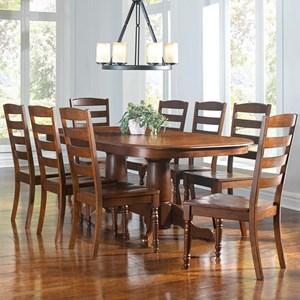 AAmerica Roanoke 9 Piece Dining Set