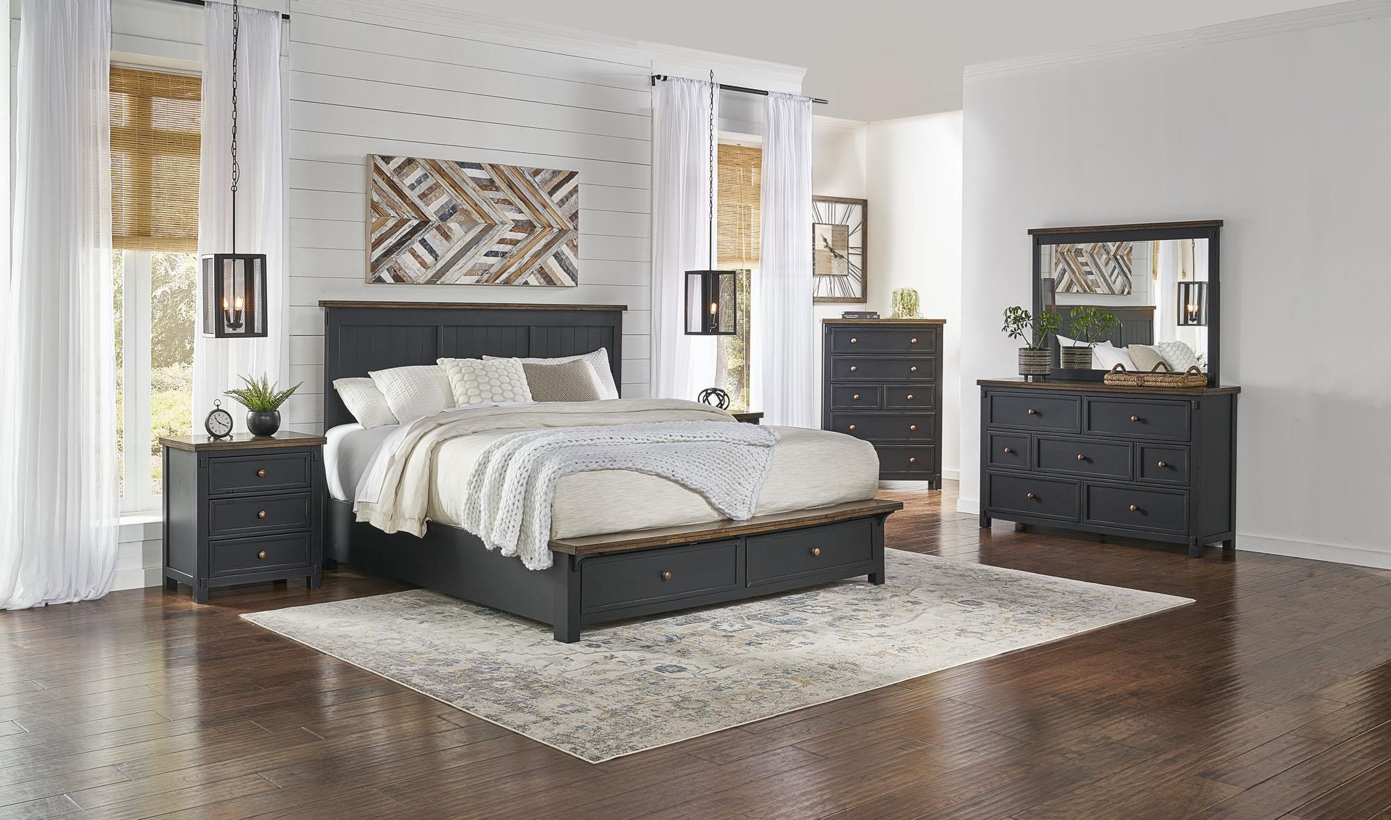 KIng Storage Platform Bedroom at Sadler's Home Furnishings