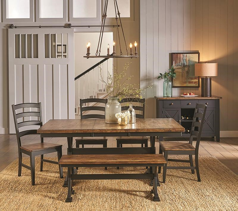 Stone Creek 5 Piece Dining Set Includes Table and 4 Side by AAmerica at Darvin Furniture