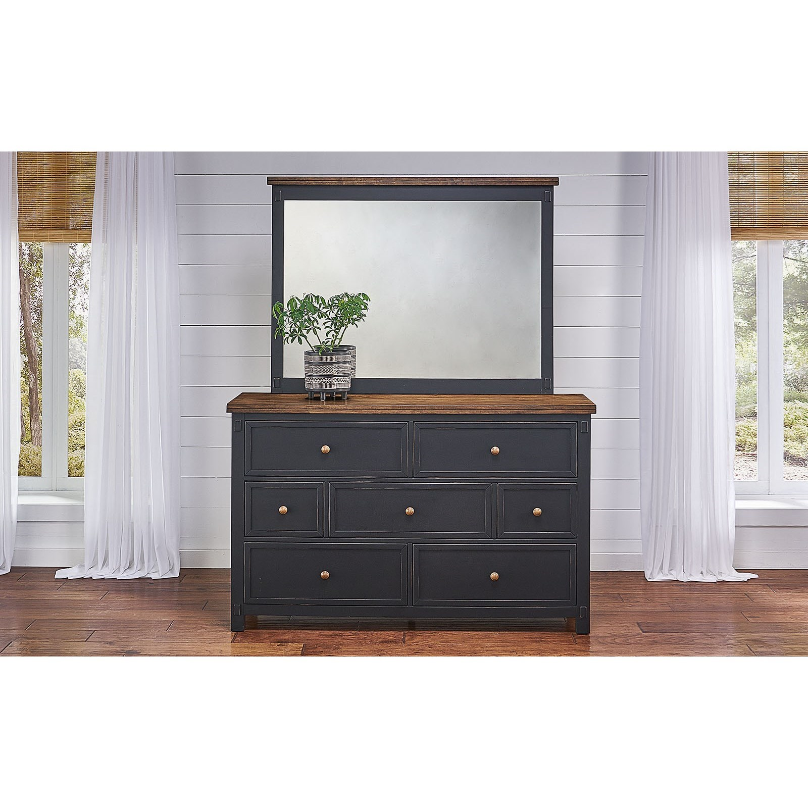 Stormy Ridge Dresser and Mirror Set by AAmerica at Novello Home Furnishings