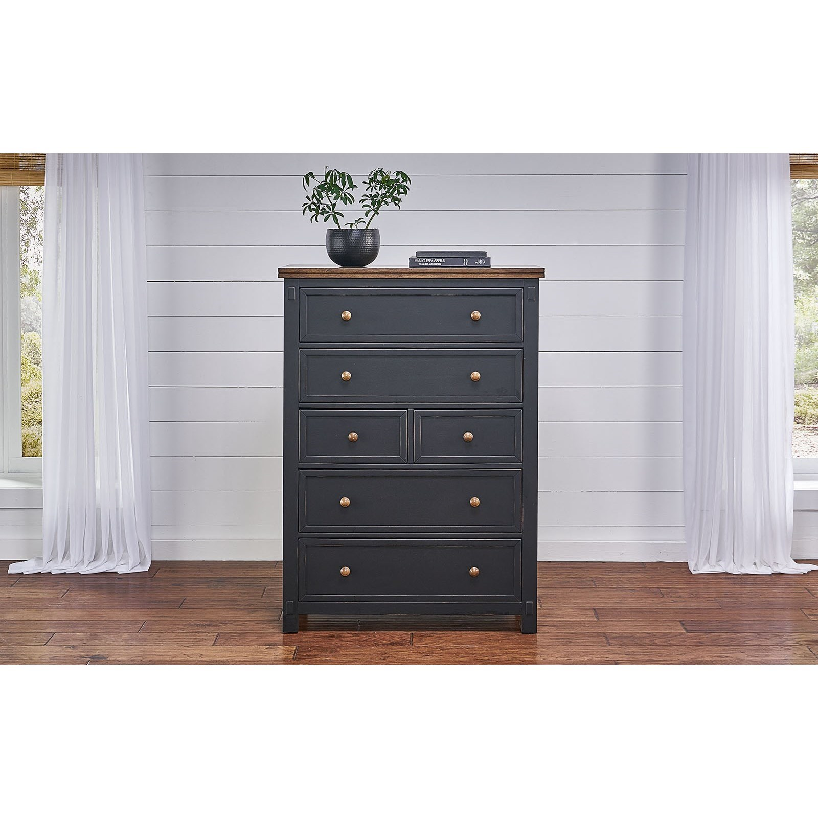 Stormy Ridge 6-Drawer Chest by AAmerica at Stuckey Furniture