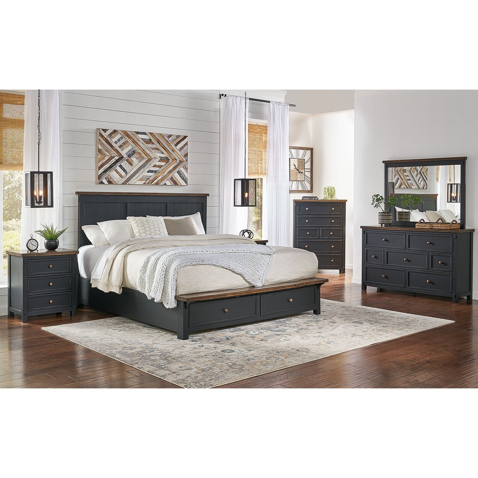 Spencer 5 Piece King Bedroom Group by A-A at Walker's Furniture
