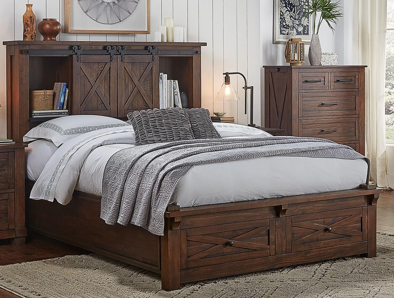 Sun Valley Queen Storage Bed by AAmerica at Furniture Superstore - Rochester, MN