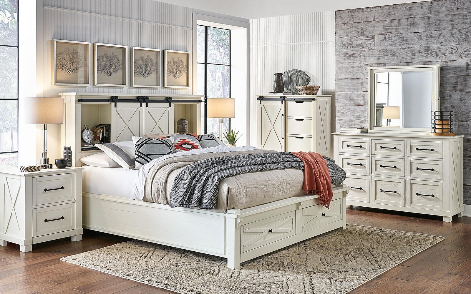 Sun Valley Queen Bedroom Group by AAmerica at Furniture Superstore - Rochester, MN
