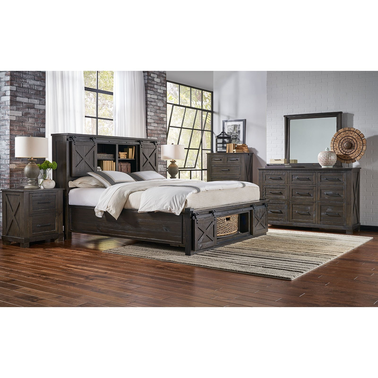 Sun Valley King Bedroom Group by AAmerica at VanDrie Home Furnishings