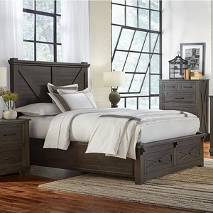 King Bed with Footboard Bench and Drawers