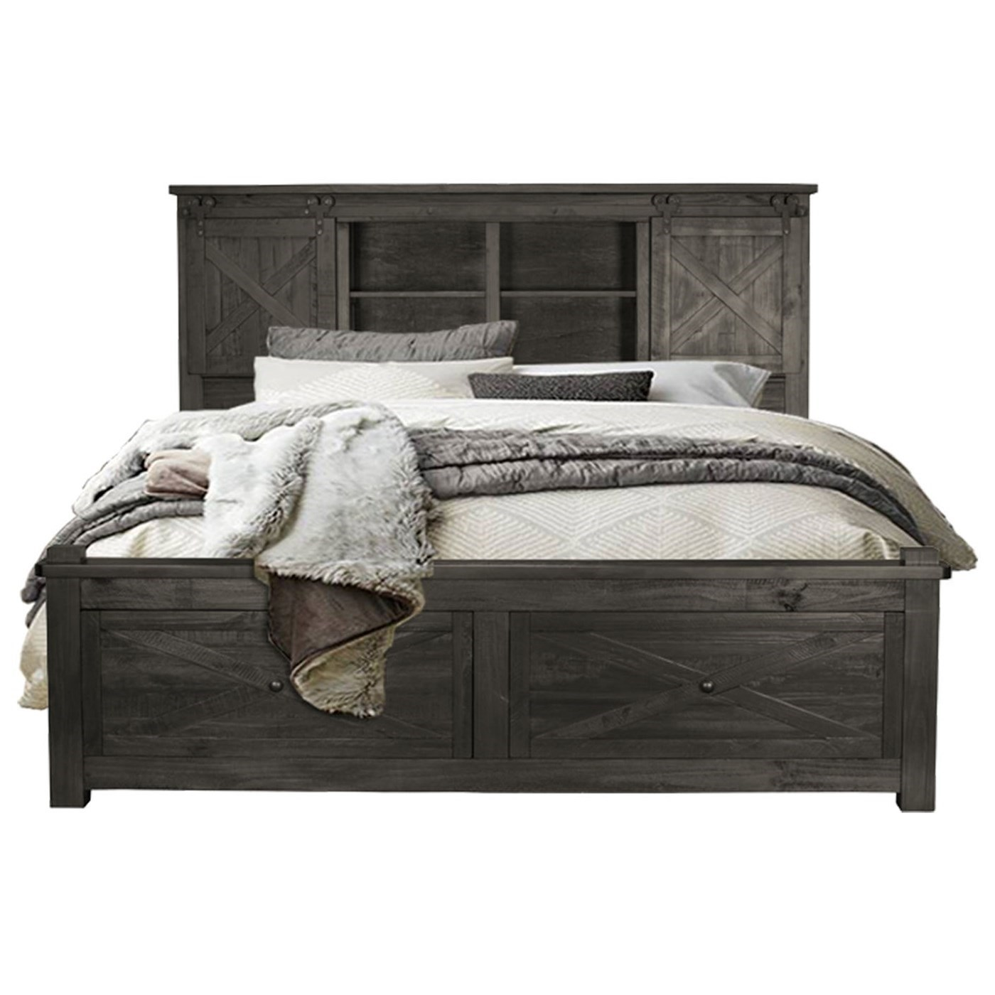 Sun Valley California King Bed with Footboard Storage by A-A at Walker's Furniture