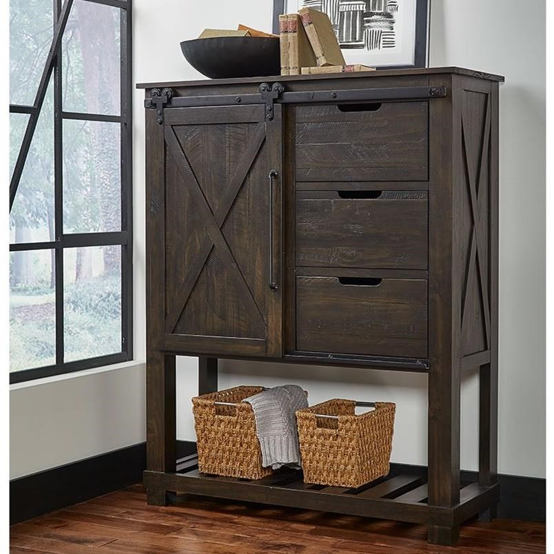 Sun Valley Barn Door Chest by AAmerica at Stuckey Furniture