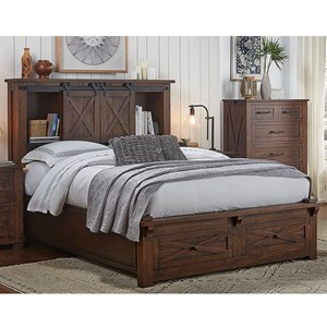 Queen Bed with Footboard Bench and Drawers
