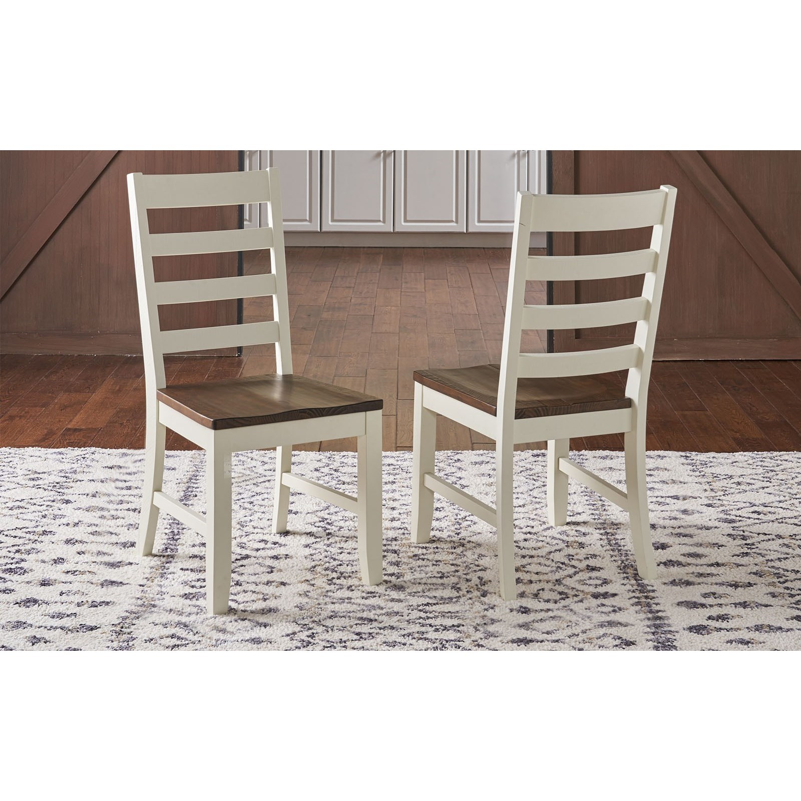 Sun Valley  Ladder Back Side Chair  by A-A at Walker's Furniture