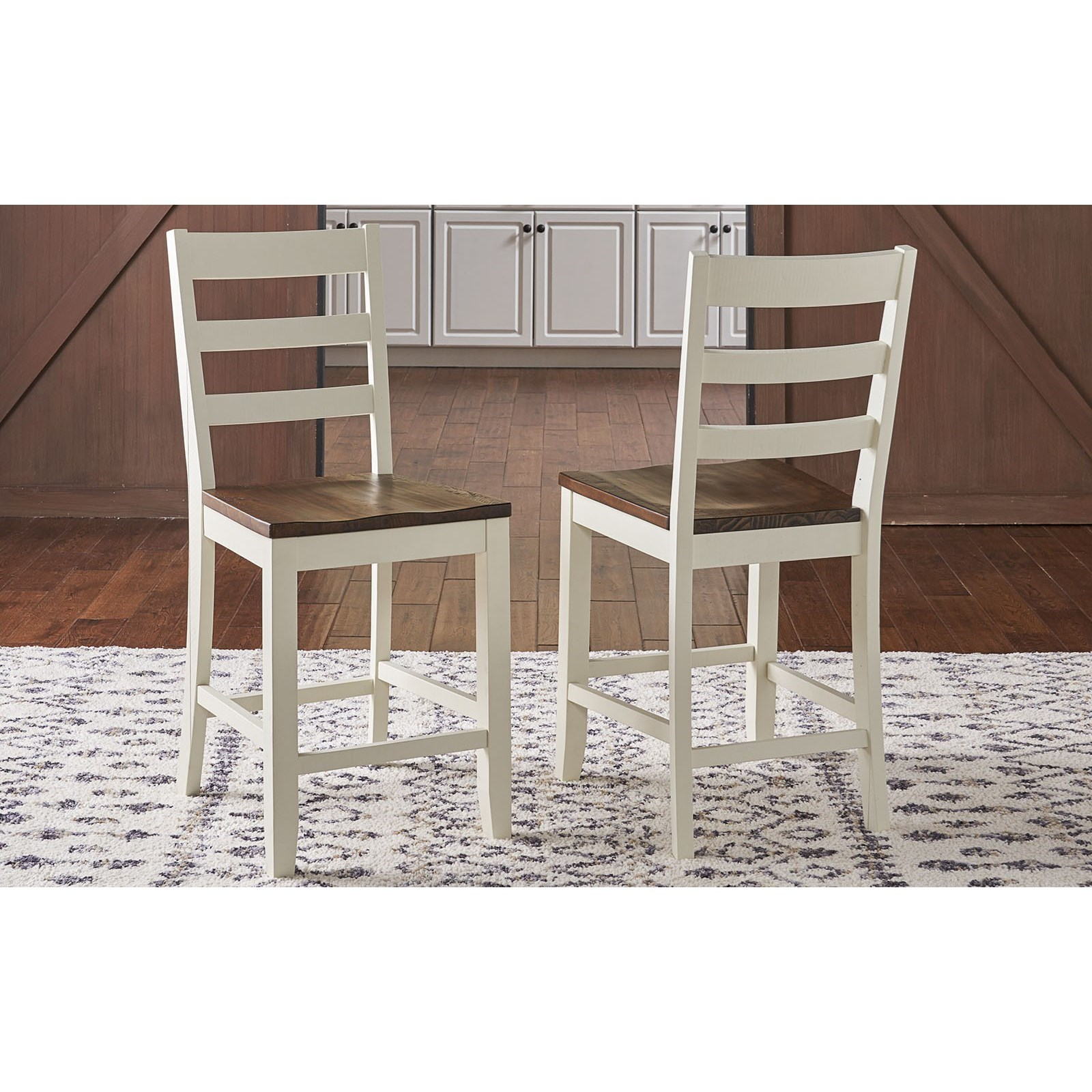 Sun Valley  Ladder Back Barstool by A-A at Walker's Furniture