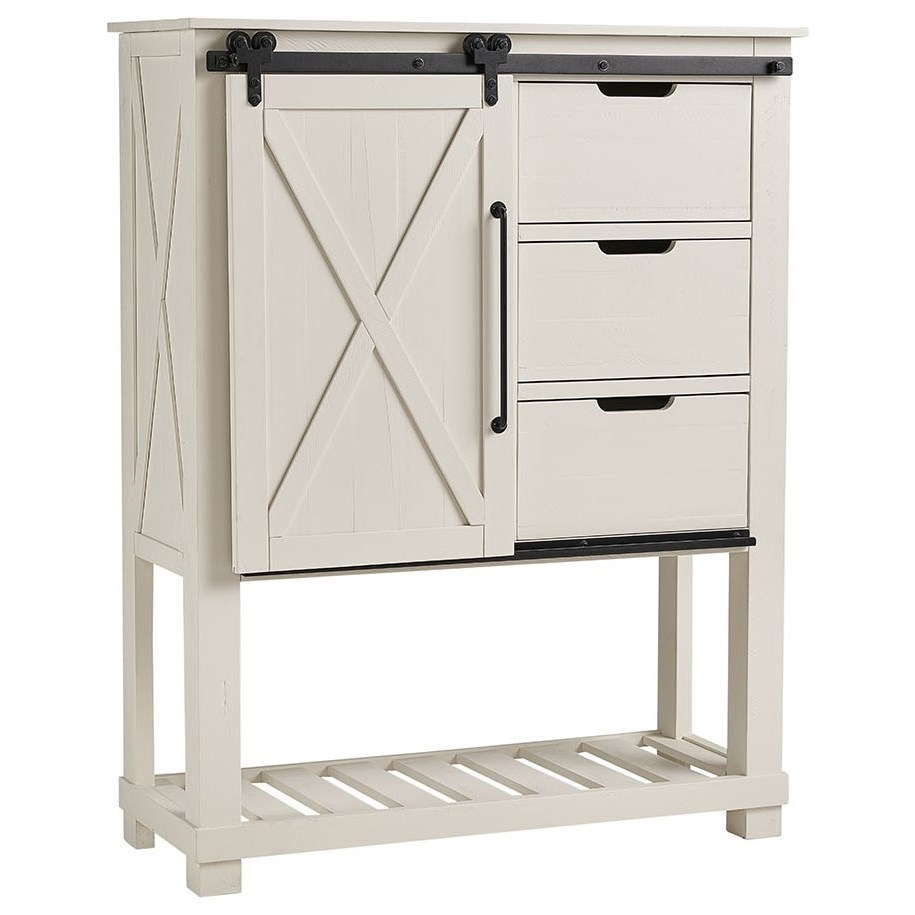Sun Valley SUV Barn Door Chest by AAmerica at Gill Brothers Furniture