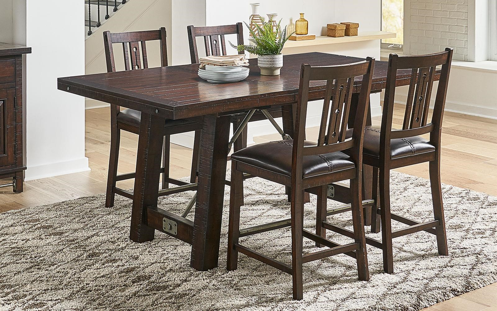 Medina 5 Piece Gathering Table by A-A at Walker's Furniture