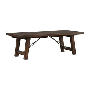 Rectangle Trestle Dining Table with Two Leaves
