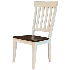 Solid Wood Slat-Back Side Chair