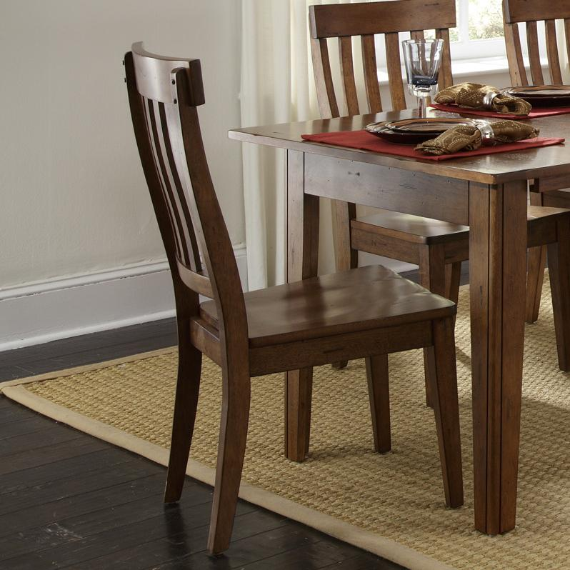 Toluca Slat-Back Side Chair by A-A at Walker's Furniture