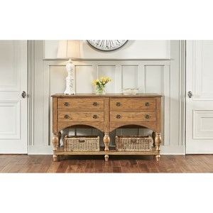 Traditional Sideboard with Felt-Lined Top Drawers