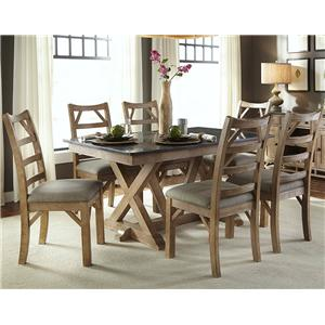 AAmerica West Valley Casual 7 Piece Dining Set