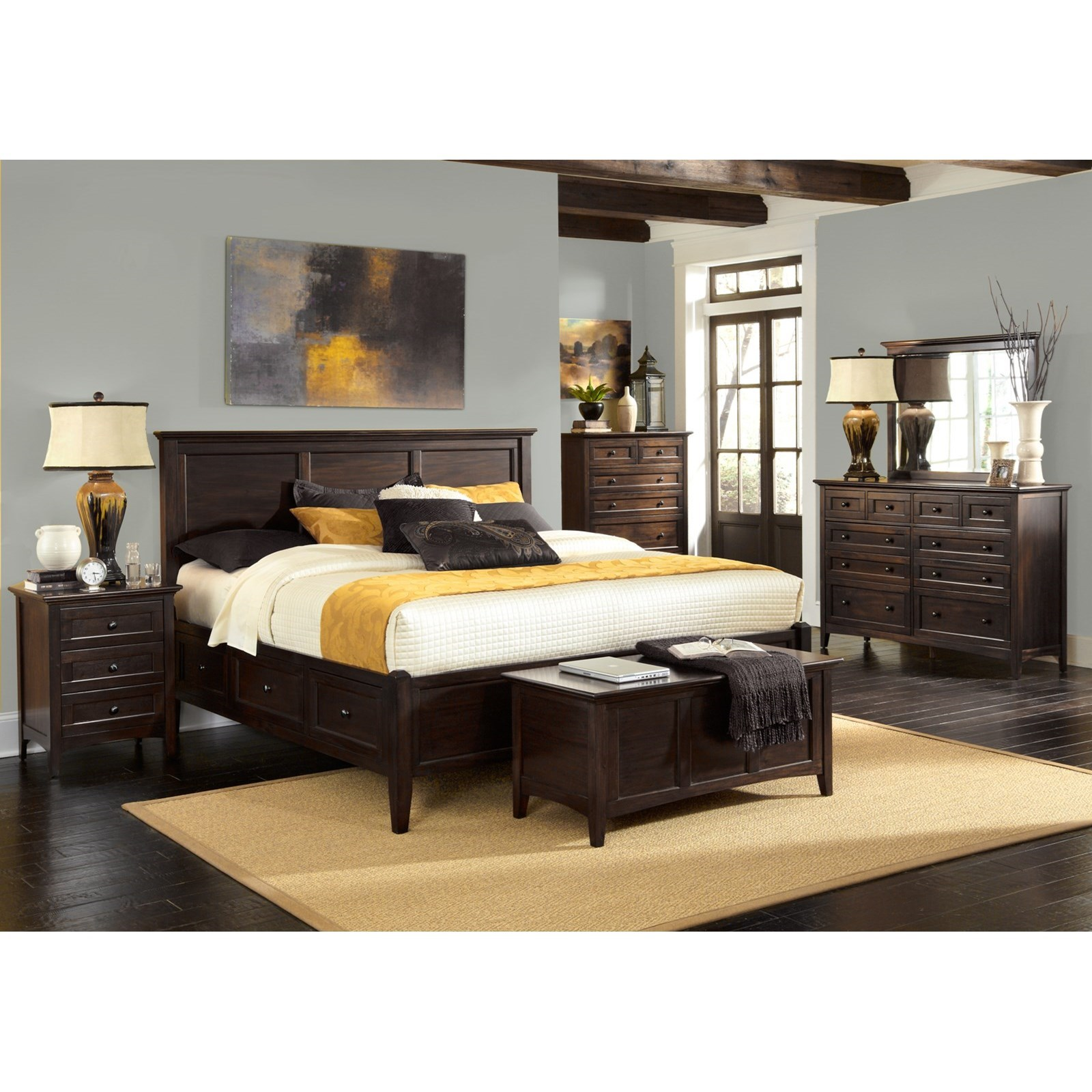 Westlake California King Storage Bedroom Group by AAmerica at Furniture and ApplianceMart