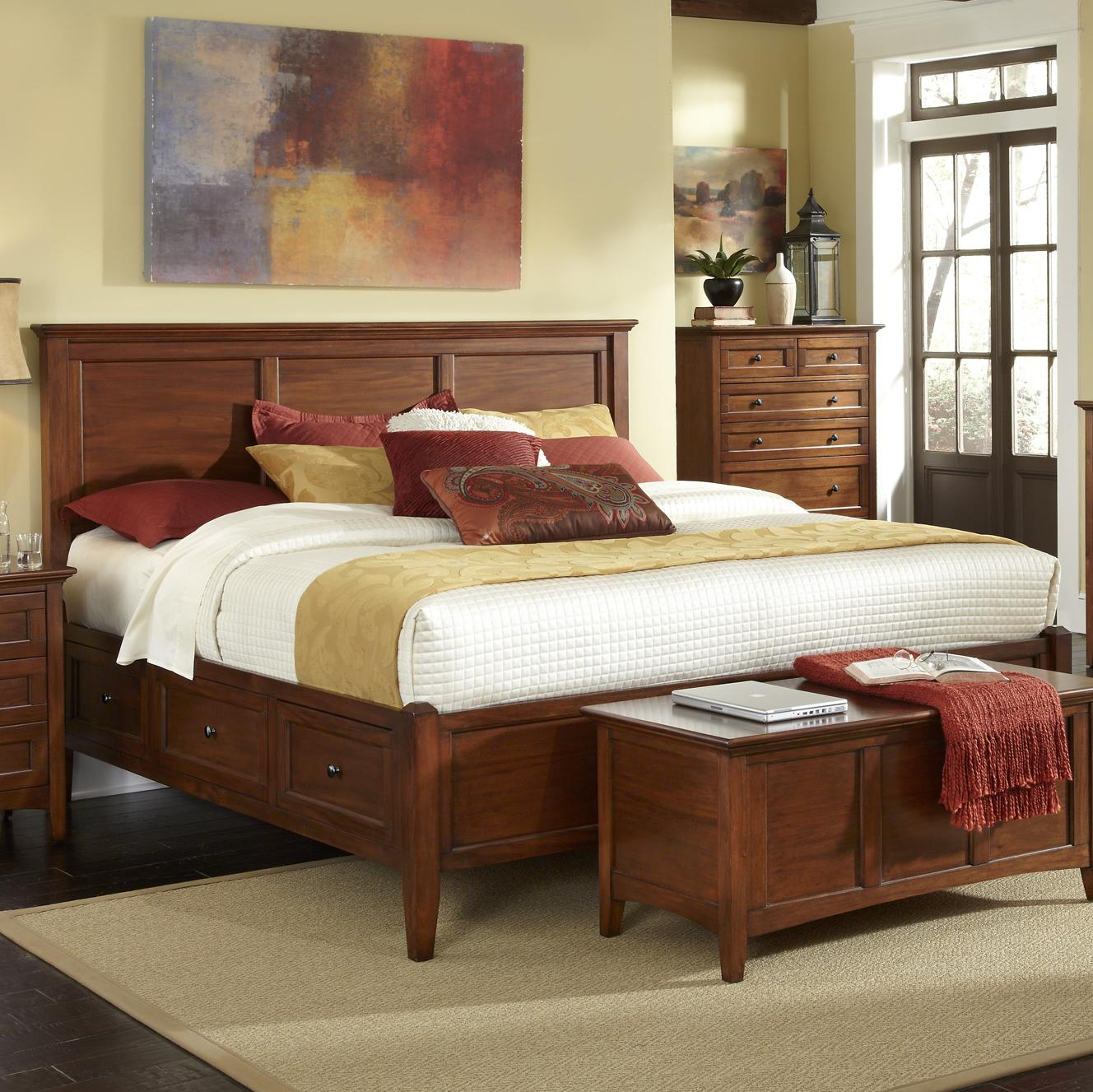 Westlake Queen Storage Bed by A-A at Walker's Furniture
