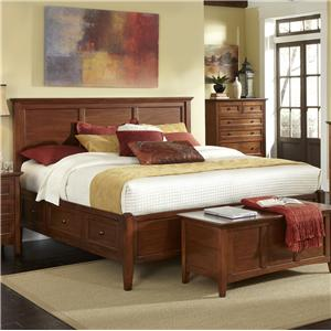 Transitional Queen Bed with 6 Storage Drawers