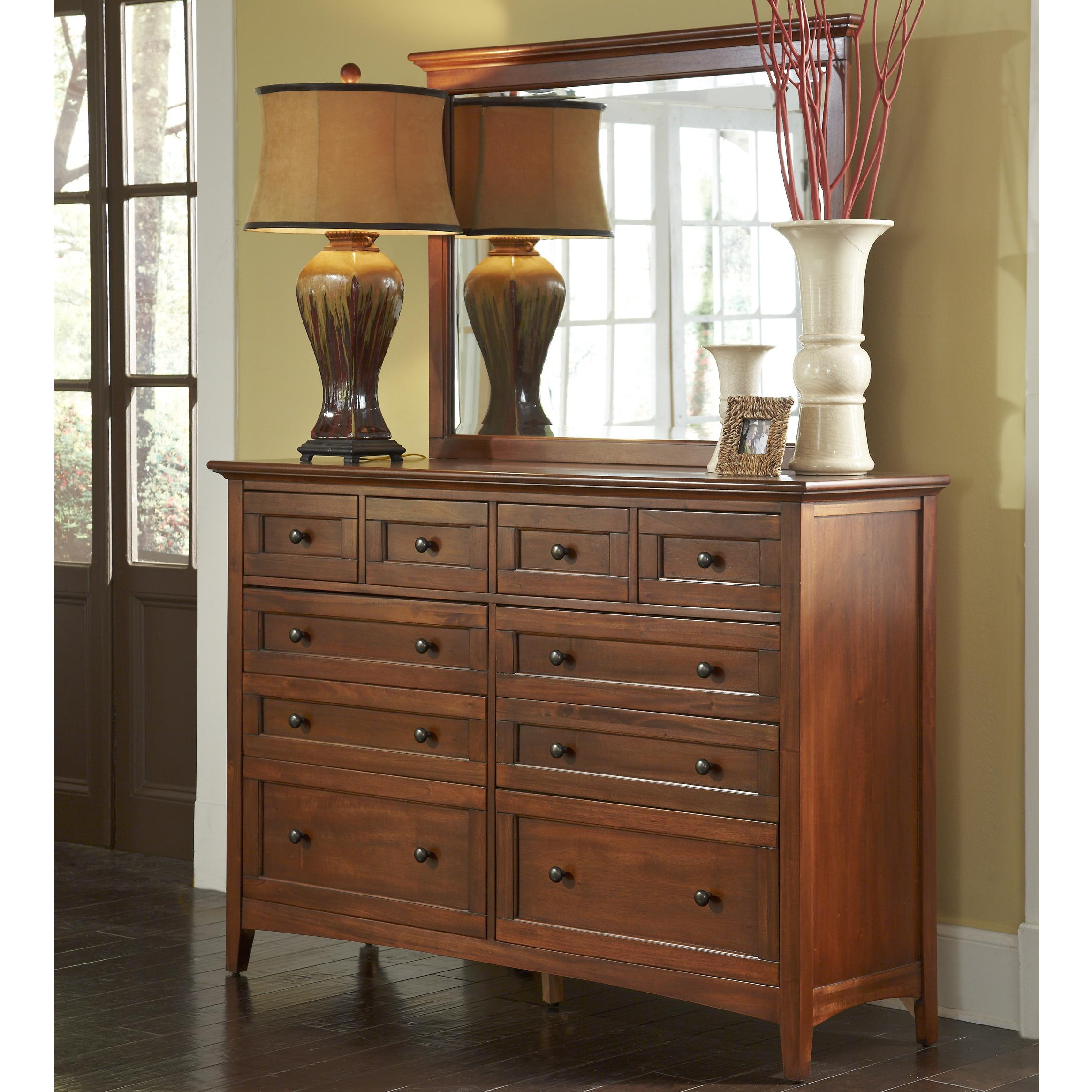 Westlake Dresser and Mirror by A-A at Walker's Furniture