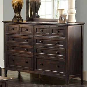 Transitional 10-Drawer Dresser with Felt Lined Top Drawers