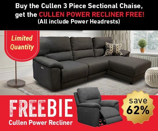 Cullen Cullen Power Sectional Sofa with Freebie! by Abbyson at Morris Home