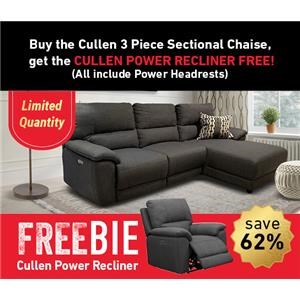 Cullen Power Sectional Sofa with Freebie!