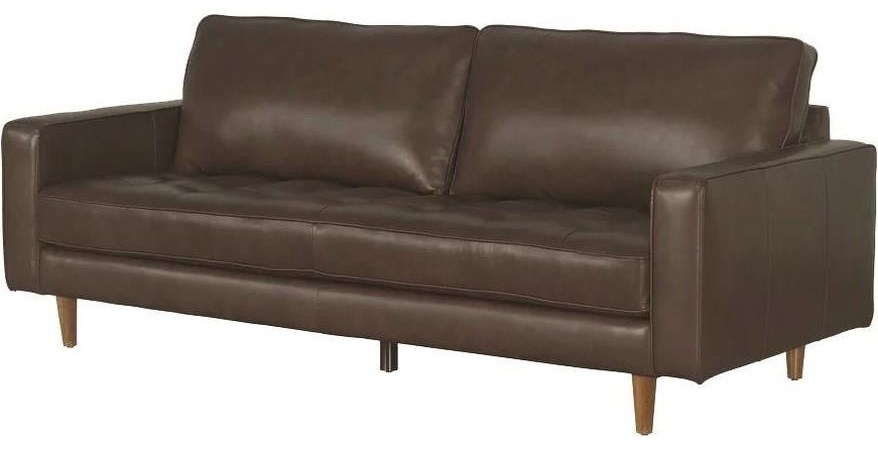 Francine Francine Top Grain Leather Match Sofa by Abbyson at Morris Home