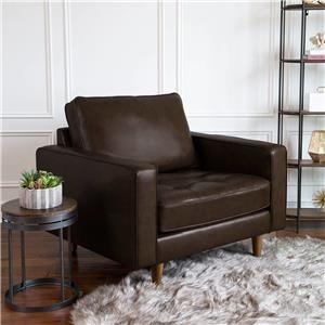 Francine Top Grain Leather Suit Chair