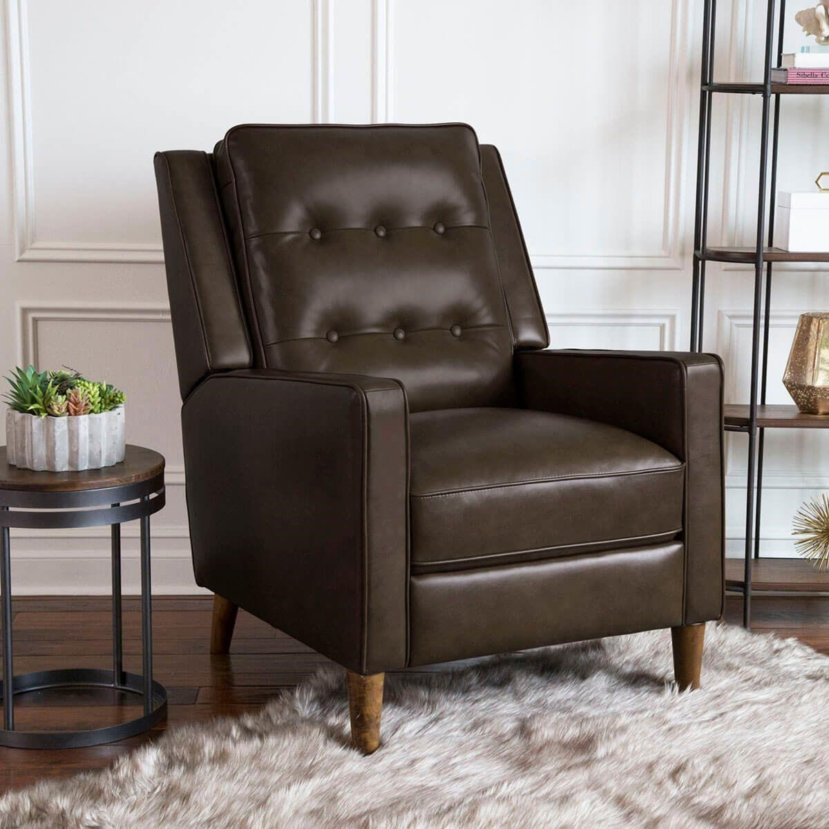 Francine Francine Leather Match Recliner by Abbyson at Morris Home