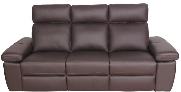 Jove Jove Power Leather Reclining Sofa by Abbyson at Morris Home