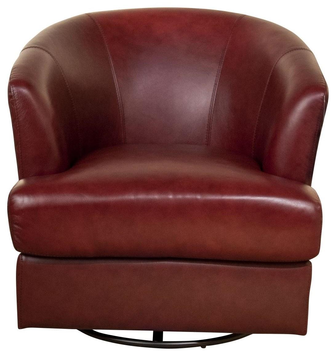 Lianna Lianna Leather Swivel Chair by Abbyson at Morris Home