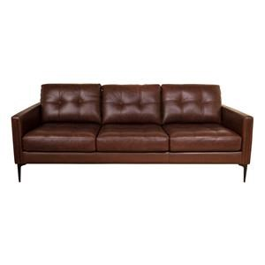 Murphey Leather Match Sofa