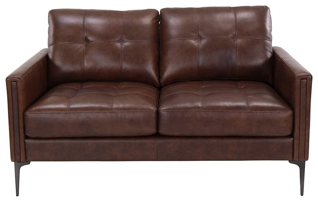 Murphey Murphey Leather Match Loveseat by Abbyson at Morris Home