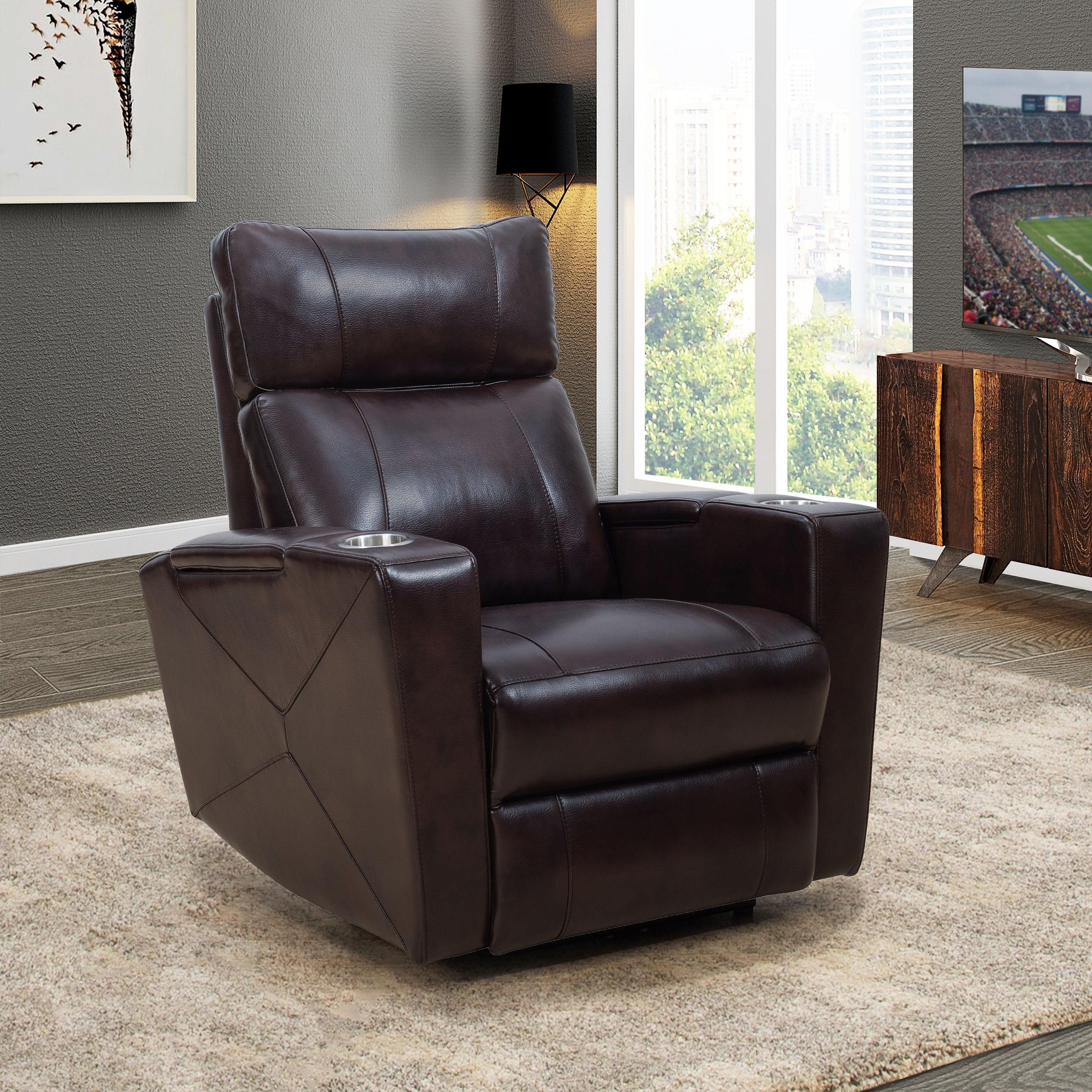 Silas - Silas Power Theater Recliner by Abbyson at Morris Home