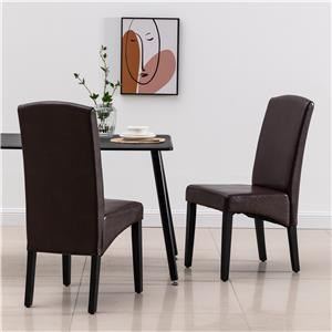 Upholstered Dining Chair - Brown