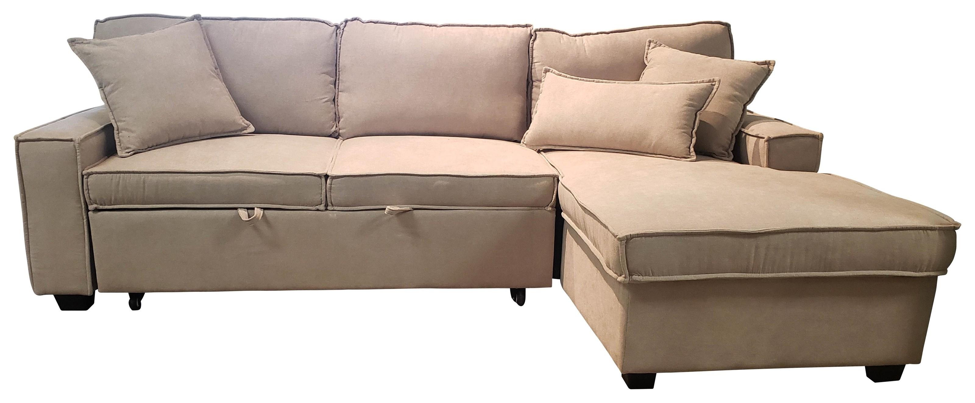 Iris Sleeper Sectional - Beige at Bennett's Furniture and Mattresses