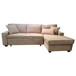 2 Pc. Sleeper Sectional - Beige
