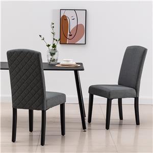 Upholstered Dining Chair - Dark Grey
