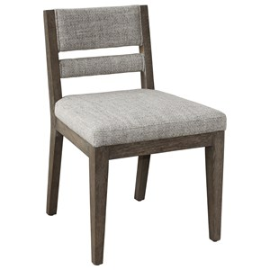 Upholstered Back Side Chair