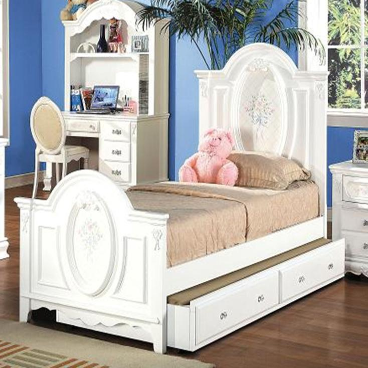 Flora Twin Panel Bed by Acme Furniture at Corner Furniture