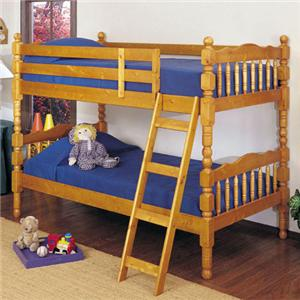 Youth Bunk Bed with Classic Spindle Accents